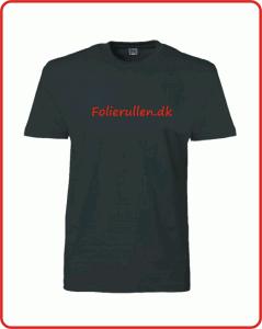 T-Shirt med tekst trykt ved Folierullen.dk