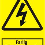 Advarselsskilt A301 - farlig elektrisk spænding