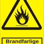 Advarselsskilt: A303 - Brandfarlige stoffer