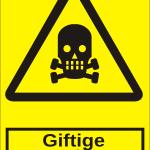Advarselsskilt: A305 - Giftige stoffer