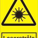 Advarselsskilt: A307 - Laserstråle