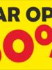 Rabatskilt: Spar op til 50 %