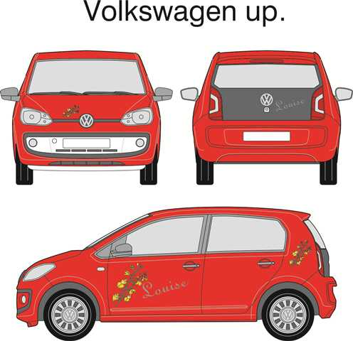 En VW UP med dekoration i folie